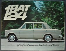 1967 Fiat 124 Sedan Sales Brochure Folder Nice Original 67