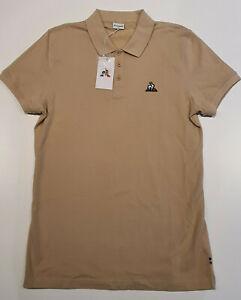Le Coq Sportif Essential Logo Polo Tee Mens Medium Hazelnut Brown Beige AU$59.95