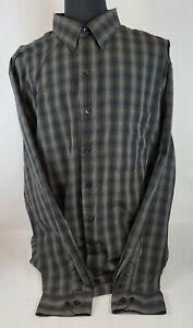 Men's Van Heusen Black Pld Long Sleeve Dress Button Down Shirt Size 2XLT 19-19.5