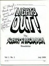 Robert McCammon Lights Out Newsletter Vol 1 No 1 July 1989 Signed Personalized