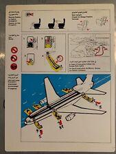 Lockheed Safety Card Royal Jordanian L-1011 Tristar 500