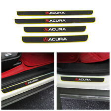 Yellow Border Rubber Car Door Scuff Sill Cover Panel Step Protector For ACURA