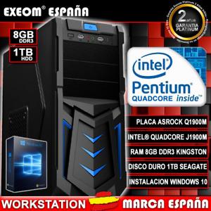 Ordenador Pc Gaming De Sobremesa INTEL QUAD CORE 9,6GHz 8GB 1TB HD HDMI Windows