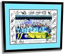 MANCHESTER CITY 2018 EPL CHAMPIONS SIGNED LIMITED EDITION FRAMED MEMORABILIA