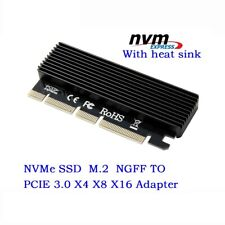 M.2 PCIe NVMe SSD to PCI-E Express 3.0 X4 X8 X16 Adapter Card Full Speed 2280 mm