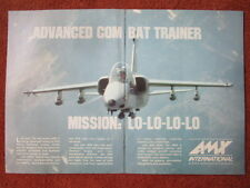 8/1992 PUB AMX INTERNATIONAL EMBRAER AERITALIA AERMACCHI COMBAT TRAINER AD