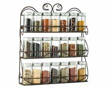 Kitchen Spice Pantry Rack Organizer Wall Mount Holder Storage Cabinet Door New