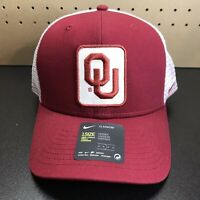 Nike Oklahoma Sooners OU Crimson Red White Trucker Snapback Hat Cap NEW