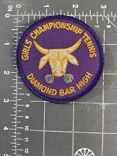 Vintage Girls Championship Tennis Patch Diamond Bar High School DBHS California