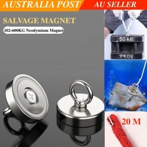 Magnet 102-600Kg Salvage Recovery Neodymium Strong Hook Fishing Treasure Hunting