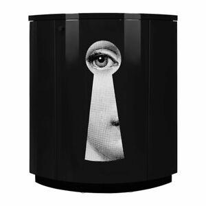 Fornasetti Keyhole Serratura Corner Unit Cabinet - Black Lacquer - NEW