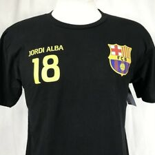 FCB Barcelona Jordi Alba Soccer Mens Medium T-Shirt Black Football Futbol Barca