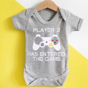 Baby Unisex Romper - Gamer - Player 3 - 0-24M