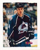 RARE 1995 Bravo Sport UWE KRUPP Hockey Card (1990s Odball) NHL Avalanche