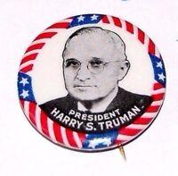 1948 HARRY TRUMAN campaign pin pinback button political presidential badge 1948