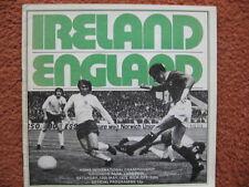 NORTHERN IRELAND  v ENGLAND 12th May 1973 @Everton