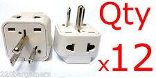 Plug Adapter 12pk 2 In 1 Universal Plug Converter Euro Asia Plug to USA