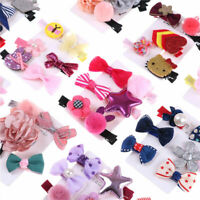 5Pcs/Set Mini Hairpin Baby Girl Hair Clip Bow Flower Barrettes Star Kids Infant