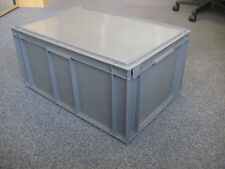 5 New Grey Plastic Storage Crates Box Container 54L