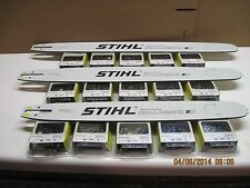 """NEW   28"""" / 25"""" / 20"""" ES PRO Stihl Bars & 15  RSF Chains combo package"""