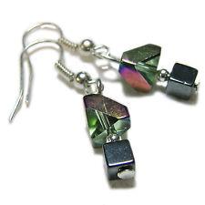 Funky Glass & Hematite Glass Bead Earrings By SoniaMcD