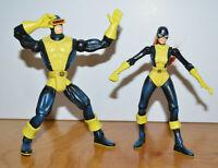 "Vintage MARVEL TOYBIZ CYCLOPS & JEAN GREY Action Figure Lot 1997 5"" X-Men"