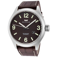 Glycine Men's 3922.17P.LB7N Incursore Automatic 44mm Brown Dial Brown Leather