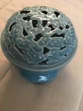 Unusual Antique Chinese Porcelain Incense burner Box Museum Marks Reign Mark