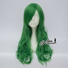 Harajuku 60CM Women Long Curly Green Fashion Party Synthetic Cosplay Lolita Wig