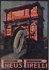 PUBBLICITA' 1921 PNEUS PNEUMATICI PIRELLI ARCO ROMANO PORTA  GOMMA RUOTA AUTO