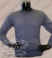 MENS KNIT JUMPER SWEATER MEN KNITWEAR CASUAL CREW NECK TOP ribbed PULLOVER XMAS