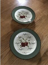 Home Interiors Apple Orchard Collection Set Of 2 Plates