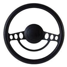 Black on Black Billet Hot Rod Steering Wheel -- 9 Hole for GM Columns, Ididit