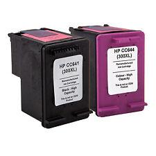 2 INK Cartridges for HP 300XL Black & Colour F4500 F4580 F4583 F2420 F2480 F2492