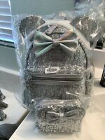 Loungefly LASR Exclusive Disney Minnie Holographic Sequin Mini Backpack/Wallet