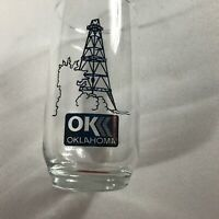 Oklahoma Glass VTG Cup Field Tower Midwest OK Drilling Drink Gift Collectible