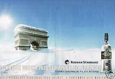 Publicité Advertising 2007 (2 pages) Vodka Russian Standard Premium Russe