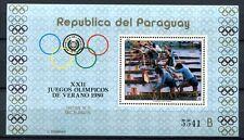 Paraguay 1979 OLIMPIADI OLYMPICS Mosca 1980 blocco 346 ** MNH