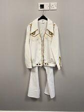 Ex Hire Fancy Dress Costumes- White Elvis Suit  - Size 164 (age 14-15yrs)