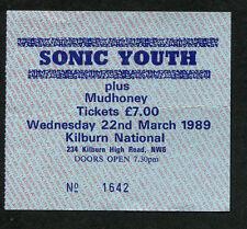 Original 1989 Sonic Youth Mudhoney Ut Concert Ticket Stub London Daydream Nation