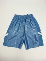 "BNWT BOYS CHILDS ADIDAS SKY BLUE DRAWSTRING WAIST SPORTS SHORTS SIZE 26"" AGE 12"