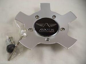 Avarus Wheels Silver Custom Wheel Center Caps # MS-CAP-Z214  W/ BOLTS (1 CAP)