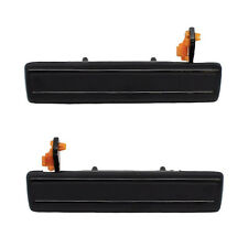 Outside Door Handles Pair - Front Left Driver + Right Passenger - Black Metal
