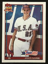 1991 Topps Traded #45T JASON GIAMBI  YANKEES/A's/TEAM USA  ROOKIE CARD!  HOF?