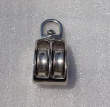 """1 1/2"""" NICKEL PLATED DOUBLE SWIVEL PULLEY FREE SHIPPING"""