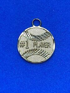 14K Yellow Gold #1 Player Baseball ⚾ Charm