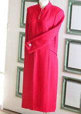ST. JOHN Jacket Sparkling Red Long Jacket Size 12, Classic Elegant