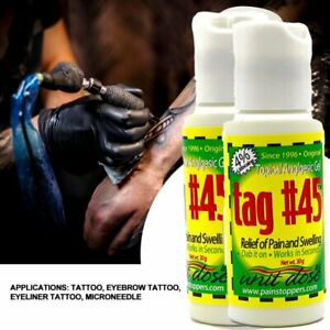 Yellow TAG 45 Topical Anesthetic Gel Permanent Makeup Numb Tattoo Numbing EX2024