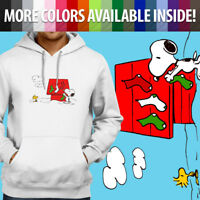 Peanuts Snoopy Christmas Dog House Woodstock Pullover Sweatshirt Hoodie Sweater
