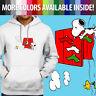 Peanuts Snoopy Christmas Dog House Woodstock Pullover Sweatshirt Hoodie Sweater